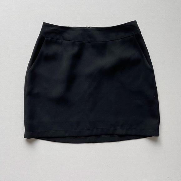 Vintage 90s Y2K Black Mini Skirt High Waisted xs s